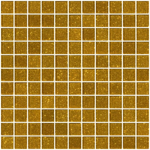 1 x 1 Glass Mosaic Tile in Gold by Susan Jablon