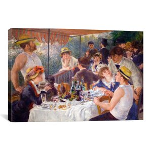 The Luncheon of the Boating Party 1881 by Pierre-Auguste Renoir Painting Print on Wrapped Canvas by iCanvas