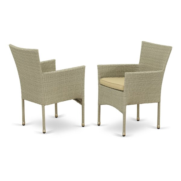 Deaver Patio Dining Chair with Cushion (Set of 2) by Bay Isle Home