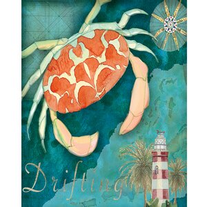 Crab Crop by Bradley Clark Graphic Art on Wrapped Canvas by Portfolio Canvas Decor