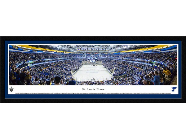 NHL Saint Louis Blues - End Zone by James Blakeway Framed Photographic Print by Blakeway Worldwide Panoramas, Inc