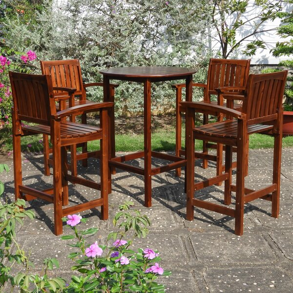 Enright 5 Piece Bar Height Dining Set by Breakwater Bay