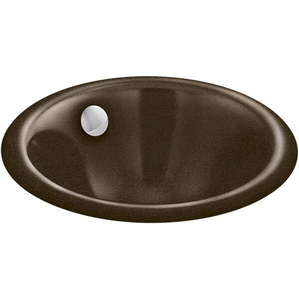 Iron Plains® Metal Circular Dual Mount Bathroom Sink with Overflow by Kohler