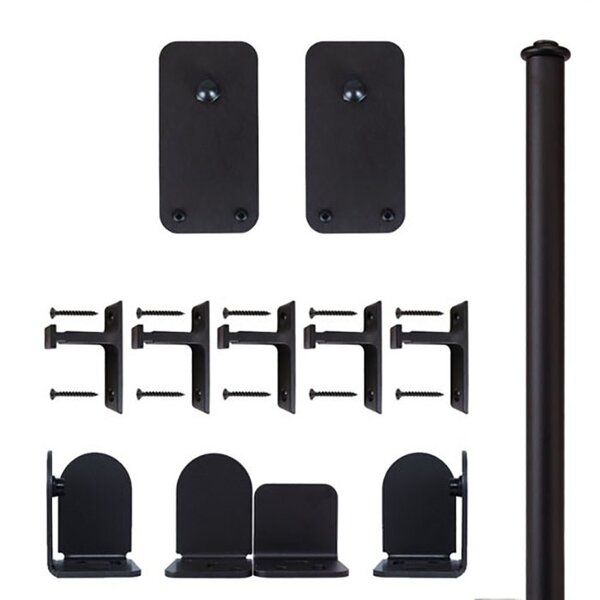 Basic Rectangle Barn Door Hardware Kit by Quiet Glide
