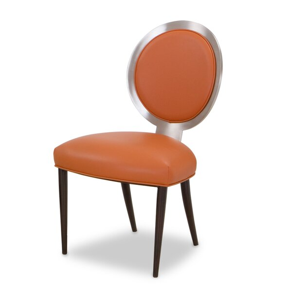 Contessa Genuine Leather Upholstered Dining Chair by Elite Modern