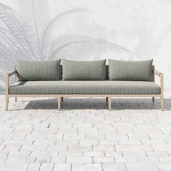 Franko Sherwood Teak Patio Sofa with Cushions by Bungalow Rose Bungalow Rose