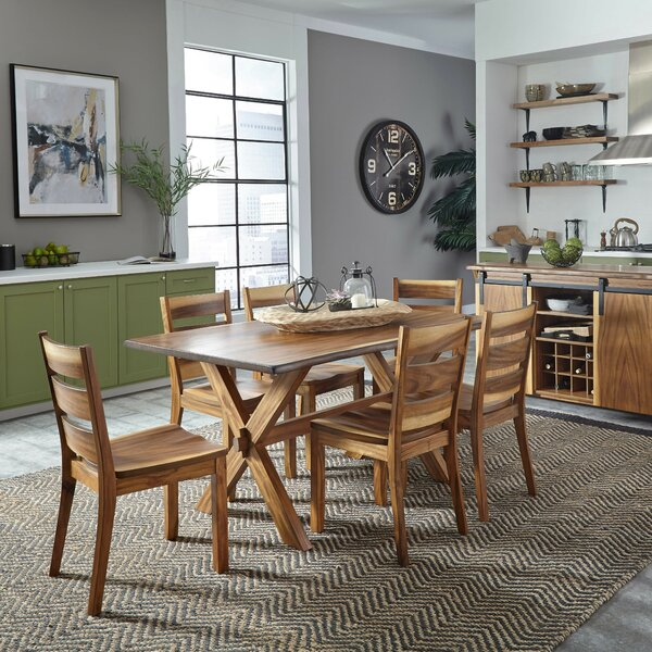 Katalina Forest Retreat 7 Piece Dining Set by Millwood Pines Millwood Pines