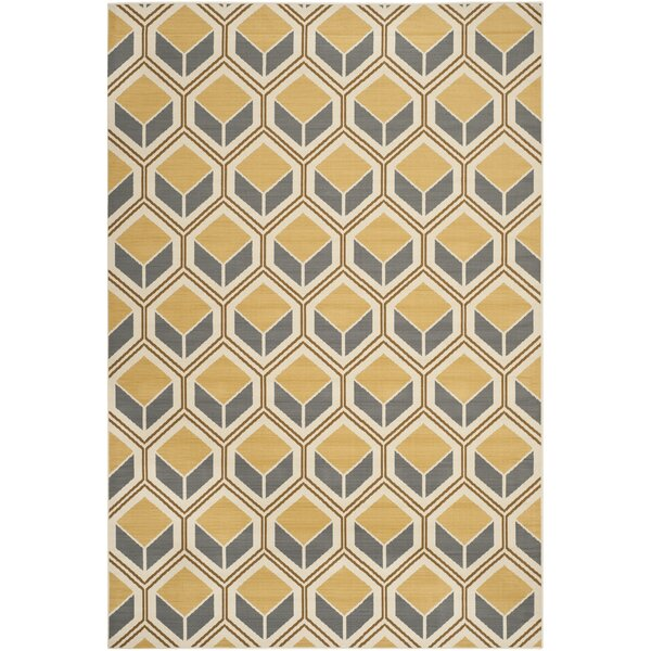 Hampton Ivory/Camel Indoor/Outdoor Area Rug by Safavieh