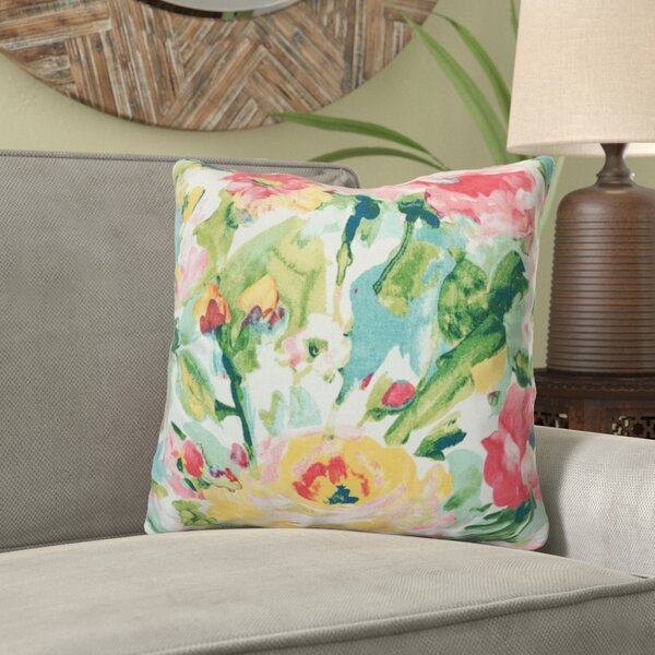 Irondequoit Watercolor Outdoor Throw Pillow (Set of 4) by Bungalow Rose