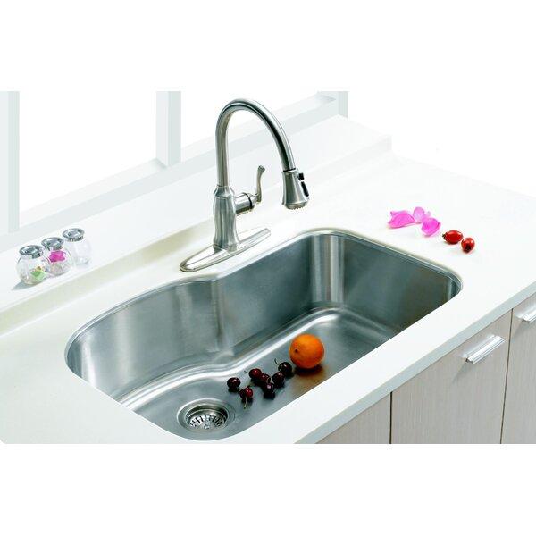 30 L x 18.75 W Single Undermount Kitchen Sink by Empire Industries