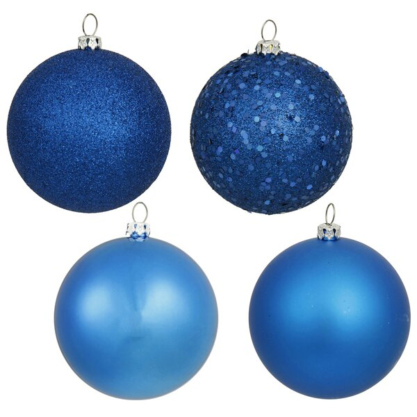 Plastic Ball Ornament with Pre Drilled Cap (Set of 32) by The Holiday Aisle