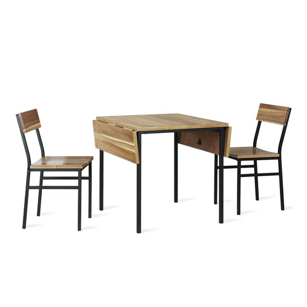 Edmont 3 Piece Drop Leaf Dining Set by Williston Forge