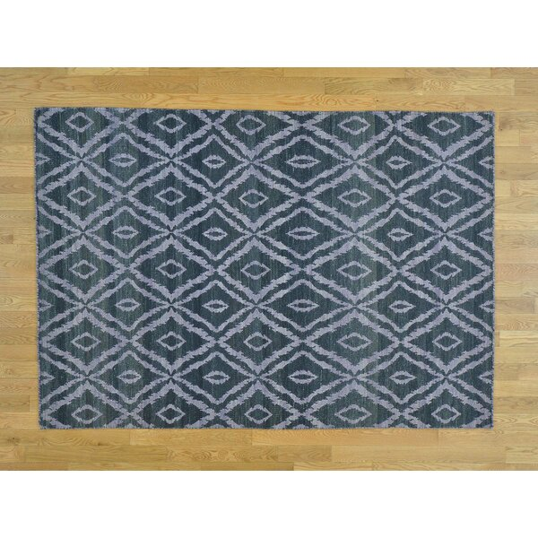 One-of-a-Kind Boothe Reversible Handmade Kilim Black Wool Area Rug by Isabelline
