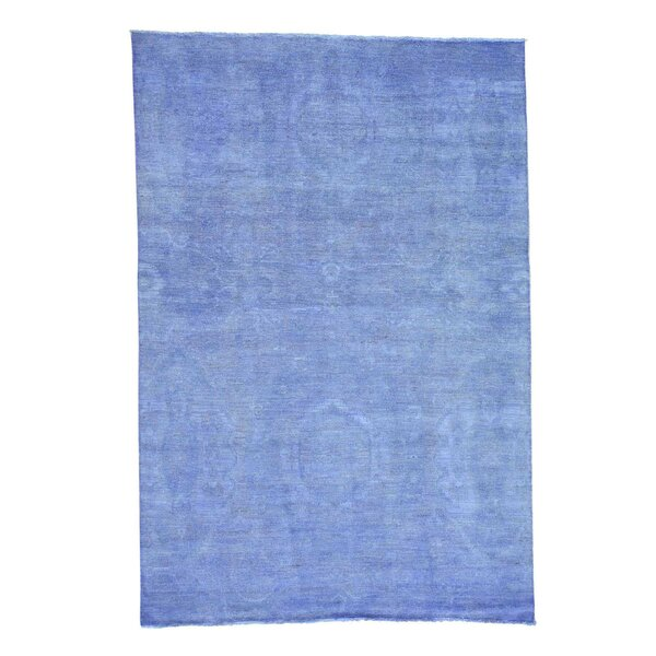 One-of-a-Kind Bagby Overdyed Hand-Knotted Blue Area Rug by Isabelline