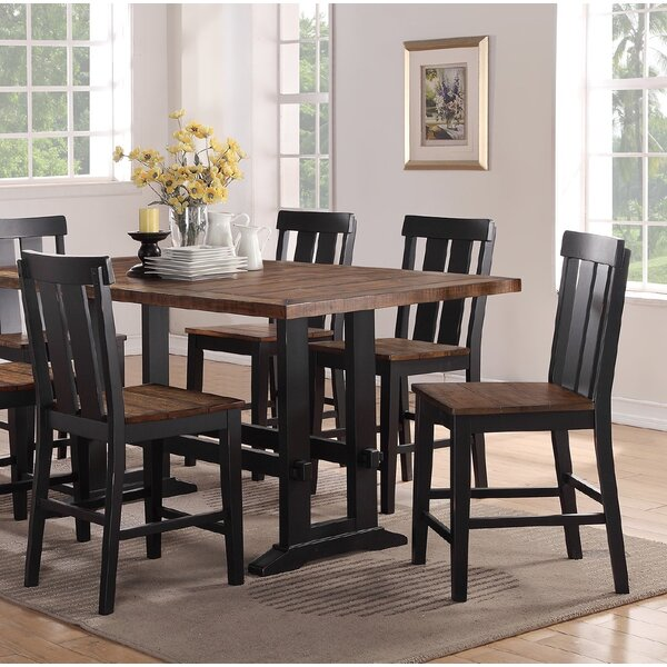 Goodman Counter Height Solid Wood Dining Chair (Set of 2) by Gracie Oaks