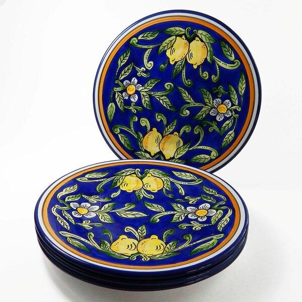 Citronique Stoneware 11 Dinner Plate (Set of 4) by Le Souk Ceramique