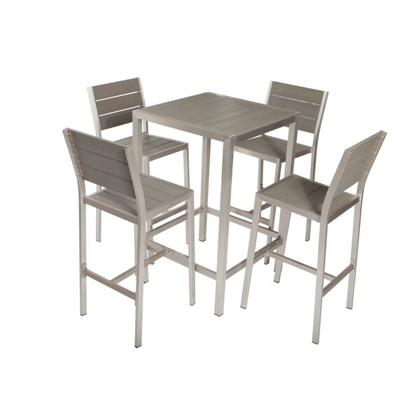 Breeze 5 Piece Bar Height Dining Set by Rosecliff Heights