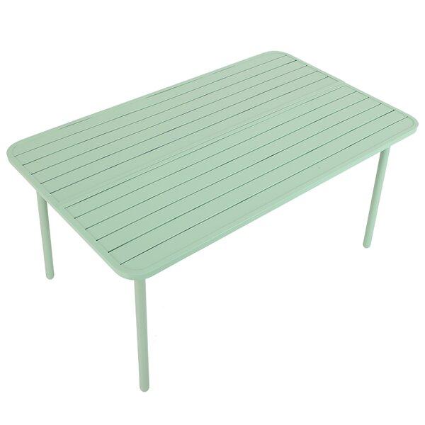 Tutt Steel Dining Table by Latitude Run