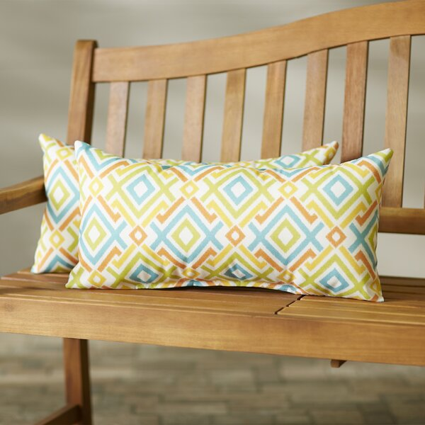 Arikara Indoor/Outdoor Lumbar Pillow (Set of 2) by Bungalow Rose