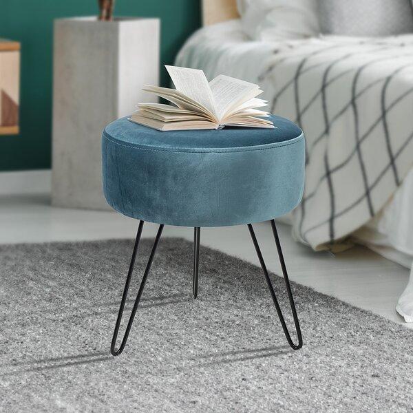 Admirable Turquoise Velvet Ottoman Wayfair Andrewgaddart Wooden Chair Designs For Living Room Andrewgaddartcom