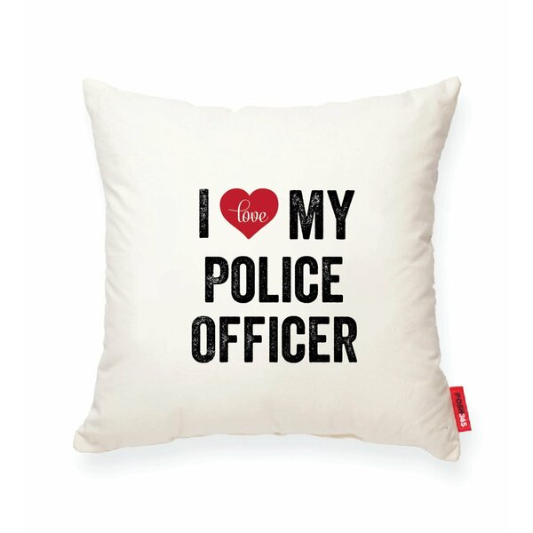 Pettitt I Heart Police Cotton Throw Pillow by Wrought Studio