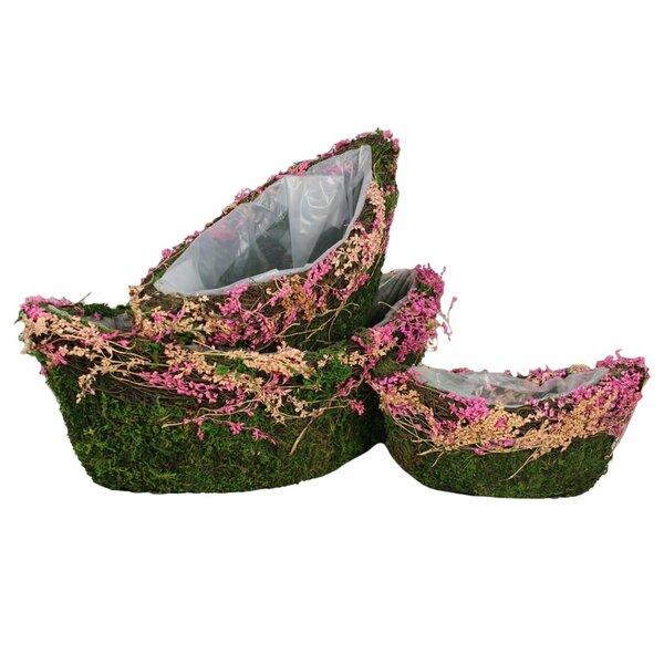 Elliott 3-Piece Moss Pot Planter Set by Ophelia & Co.