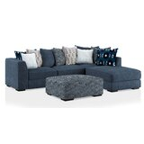 Adri 119 Right Hand Facing Sectional with Ottoman by Latitude Run