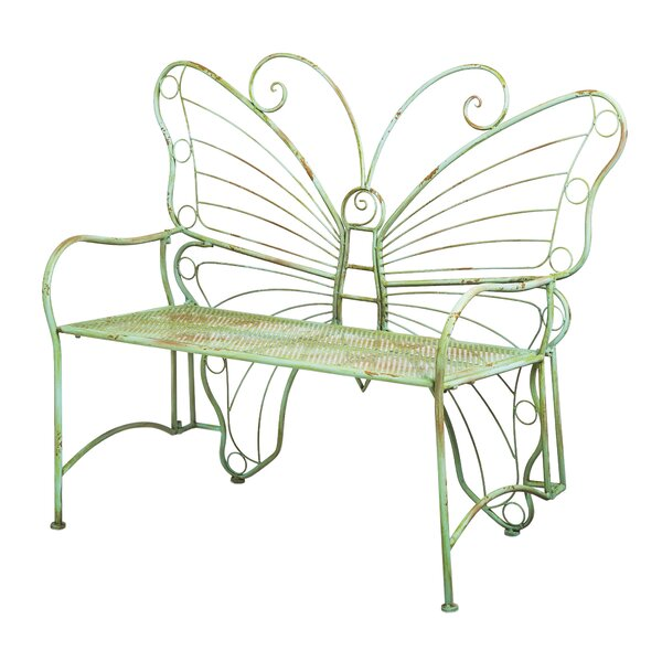 Clementina Butterfly Metal Park Bench by August Grove