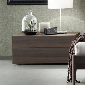 Divine 2 Drawer Nightstand by Rossetto USA