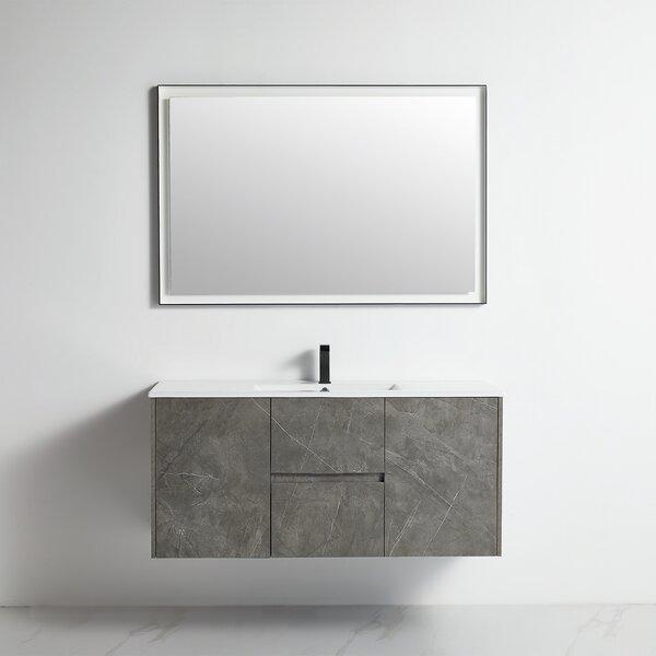 Maelie 47 Wall-Mounted Single Bathroom Vanity Set with Mirror