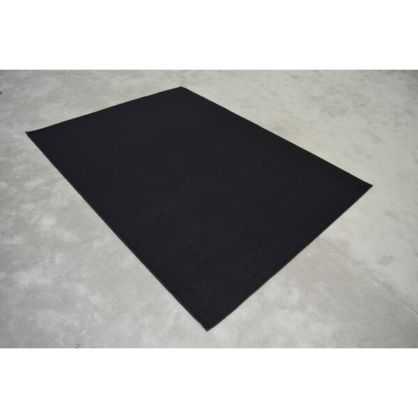 Aly Wool Black Area Rug by Orren Ellis
