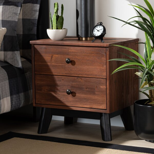 Ferriera 2 Drawer Nightstand by Union Rustic