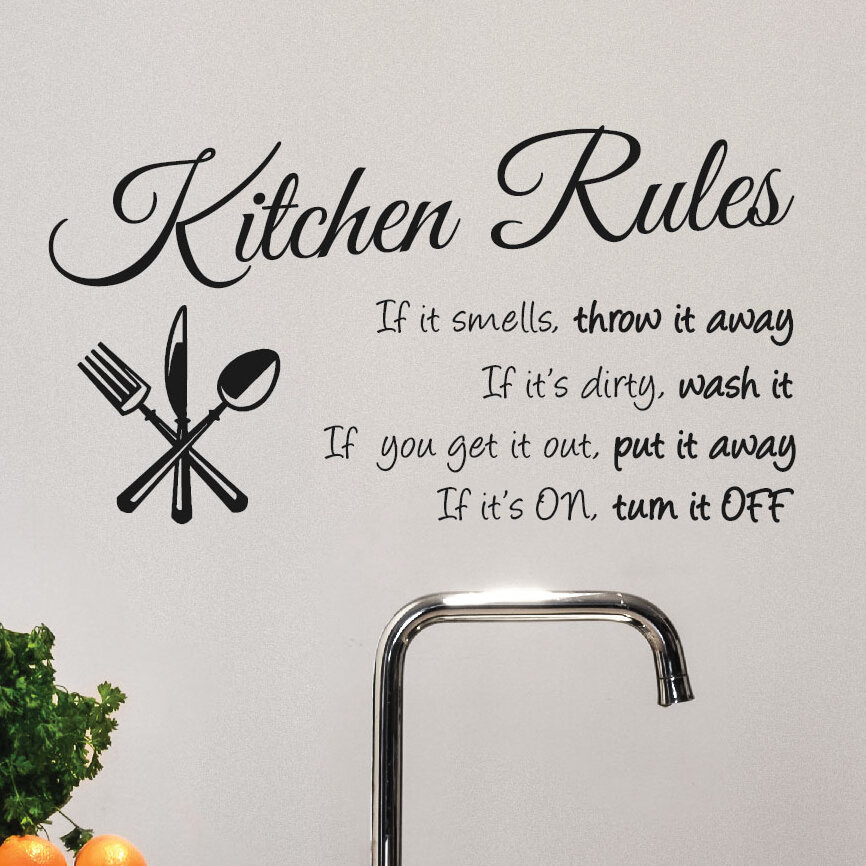 Isabelle Max Kitchen Rules Wall Decal