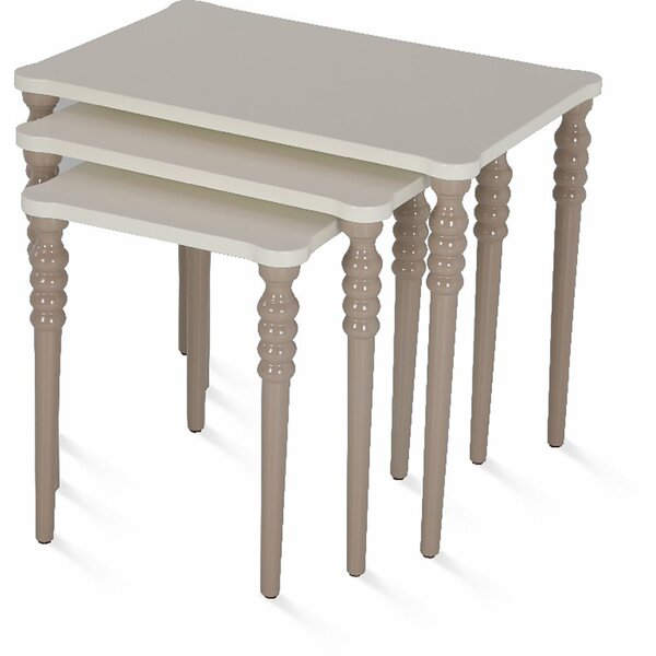 Oubre Lightweight Stackable Rectangular 3 Piece Nesting Tables By Canora Grey Best Design