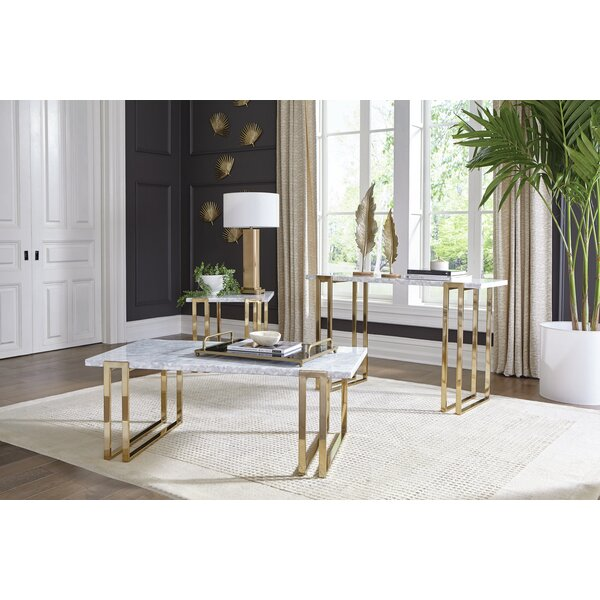 Babbie 3 Piece Coffee Table Set by Mercer41 Mercer41