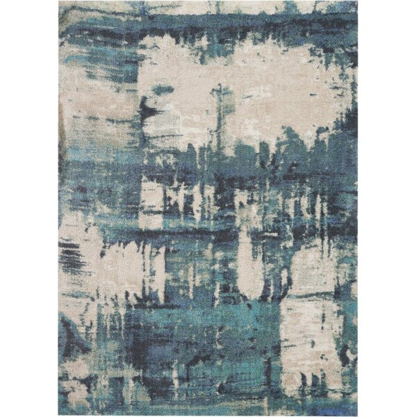 Conklin Hand-Tufted Blue Area Rug by Williston Forge