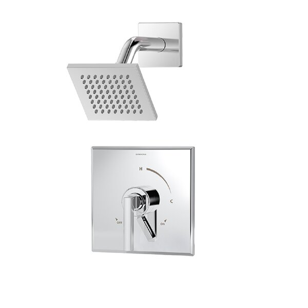 Duro 1-Handle Shower Valve Faucet Trim Kit with Square Showerhead and Lever Handle by Symmons