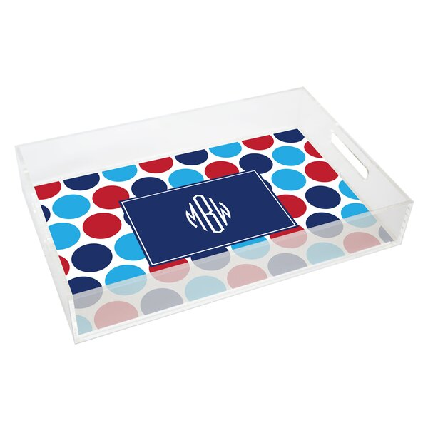 Everyday Tabletop Americana Dots Lucite Tray by Kelly Hughes Designs