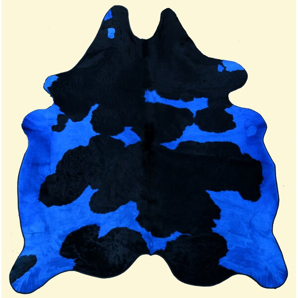 Dairy Blue and Black Area Rug by T. Style
