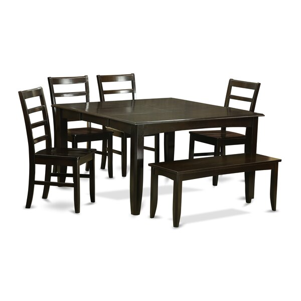 Pilning 6 Piece Extendable Solid Wood Dining Set by August Grove