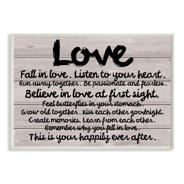 Love Plank-Look Textual Art Wall Plaque by Stupell Industries