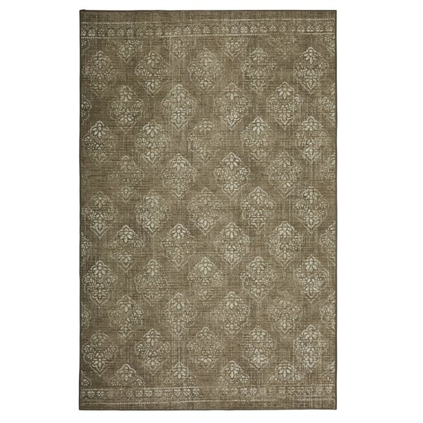 Garnett Looped Taupe/Ivory Area Rug by Ophelia & Co.