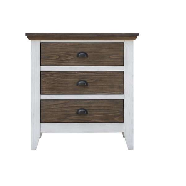 Rowes 3 Drawer Nightstand by Gracie Oaks