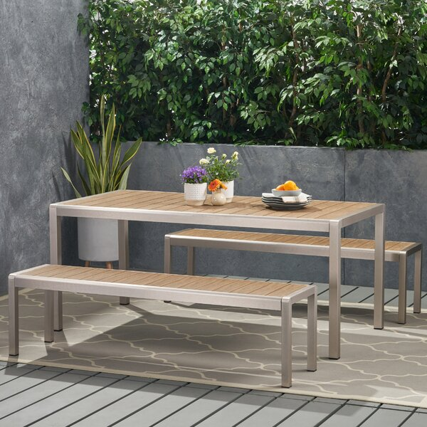 Hoopes Coral 3 Piece Dining Set by Wrought Studio