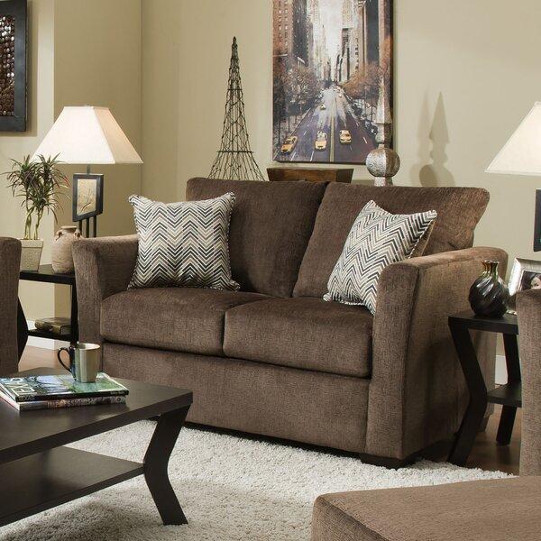 Simmons Upholstery Chestnut Loveseat by Winston Porter