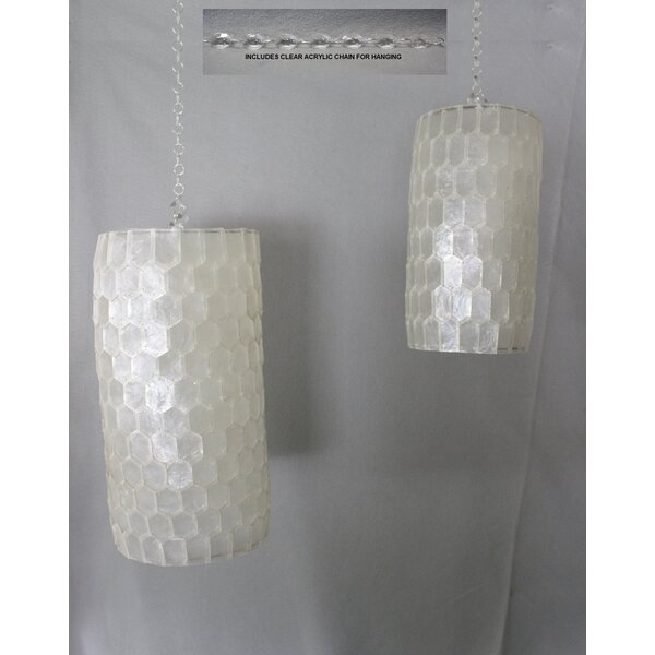 Altizer Capiz Shell 2-Light Lantern Head (Set of 2) by Highland Dunes