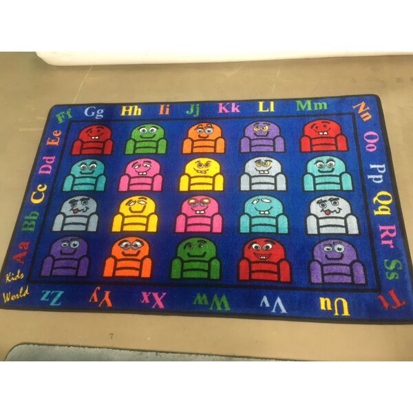 Blue Silly Seats Area Rug by Kids World Carpets