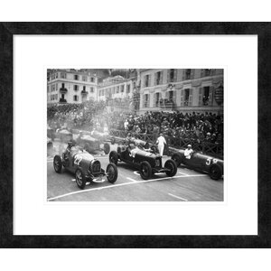 'Le Depart Du Grand Prix de Monaco 1932' by Delius Framed Photographic Print by Global Gallery