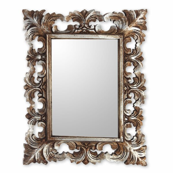 Padma Hand Carved Wood Wall Mirror by Novica