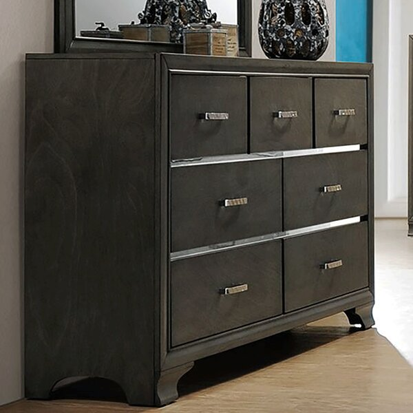 Plemmons 7 Drawer Double dresser by House of Hampton